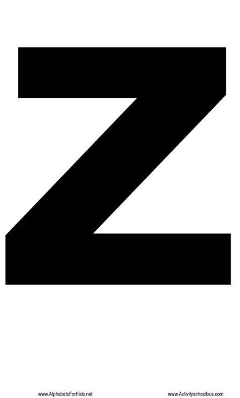 large printable letter x large letter z printable for teaching preschool children
