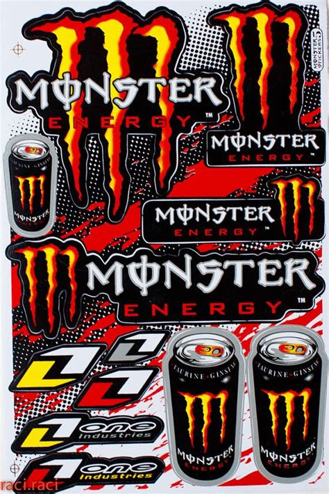 Monster Aufkleber Orange by Orange Monster Energy One Industries Claws Sticker Decal