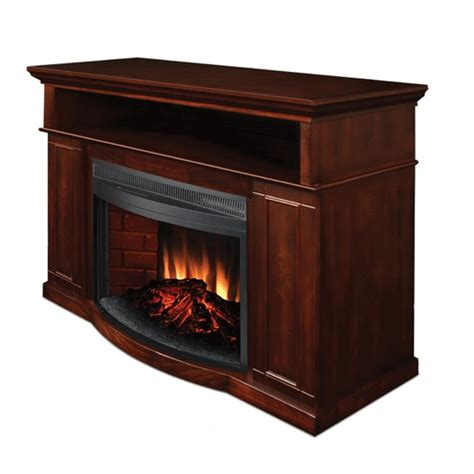 tv stand with electric fireplace object moved