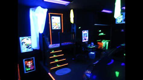 blacklight garage party room youtube