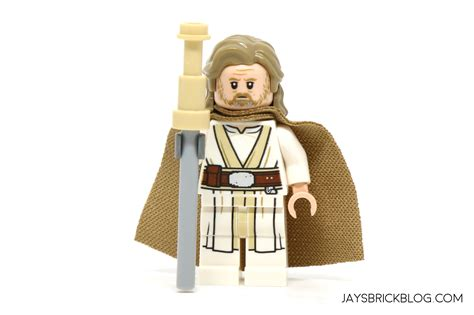 Lego Minifigure Wars Luke Skywalker Jedi Master Light Saber review lego 75200 ahch to island