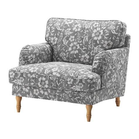 stocksund housse de fauteuil hovsten gris blanc ikea