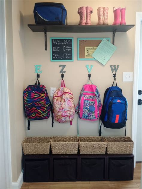 ideas for hanging backpacks organizing a mudroom in a small space the mom of the year