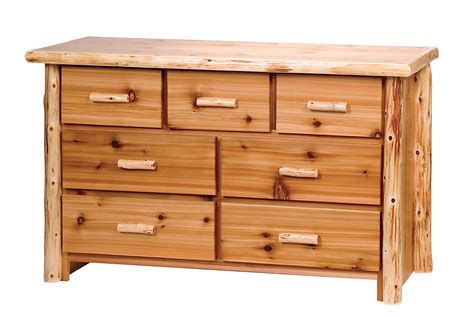 Cedar Dresser timberland cedar log 7 drawer dresser rustic furniture
