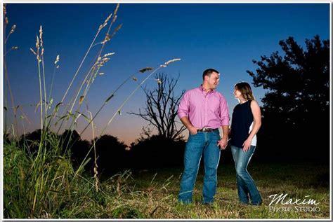 Dayton Wedding Photographers Louisville Night Engagement