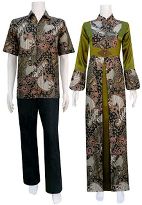 Gamis Kipas Merah baju gamis batik sarimbit motif kipas tata batik sarimbit