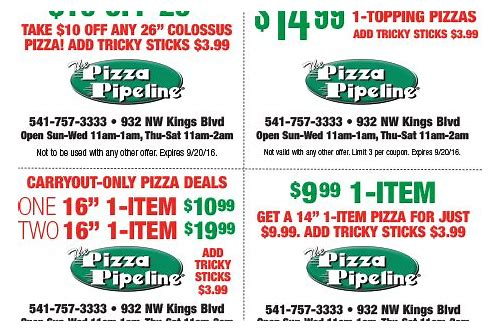 corvallis pizza coupons