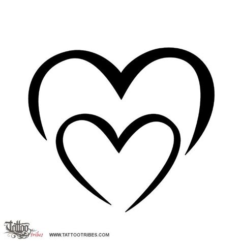 two hearts tattoo designs m m bond this simple shaped by two ms was