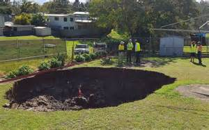 backyard sinkhole sinkhole swallows aussie couple s backyard radio new