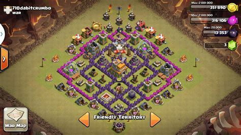 th7 war base layout th7 to th11 farming war base layouts for february 2017