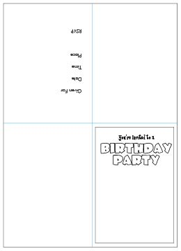 free printable birthday invitations quarter fold free printable kids birthday party invitations templates