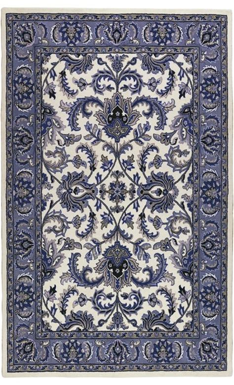 Traditional Thomasville 5 X8 Rectangle Blue Area Rug Thomasville Area Rugs