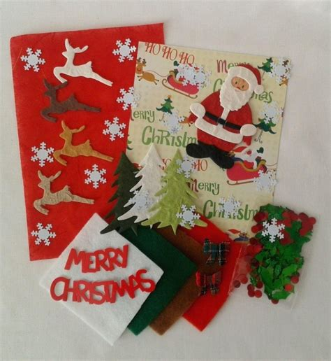 christmas craft embellishment pack great for kids crafts