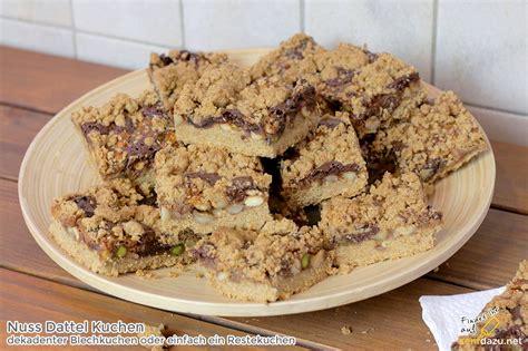 nuss kuchen rezept nuss dattel kuchen rezept dekadenter blechkuchen oder