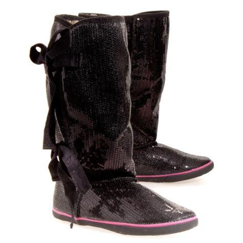 rhwlsow sugar s moragami flat boot black sequin
