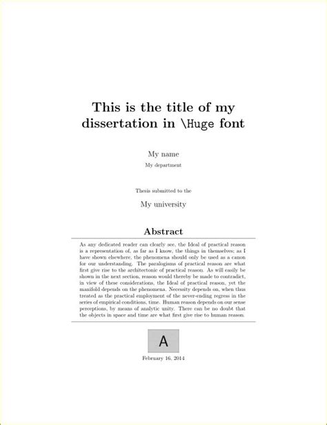 thesis title covers creating a title page for maths dissertation