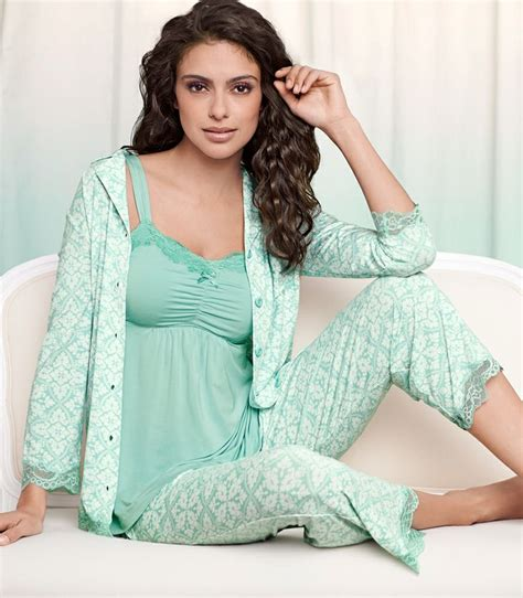 soma bett soma embraceable pajamas in palace tile pale jade