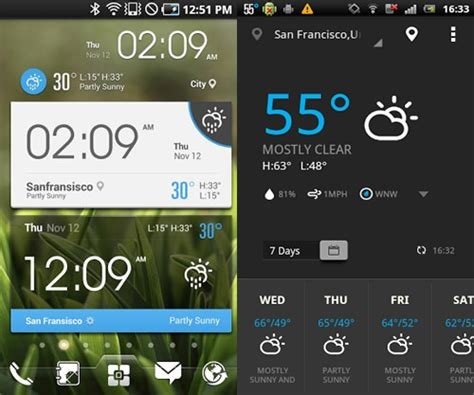 weather clock widget android 20 beautiful weather widgets for your android home screens hongkiat