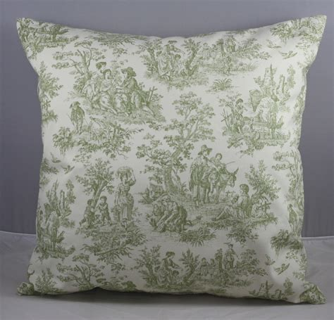 Waverly Pillow by Pillow Cover Waverly Green And Ivory White Toile