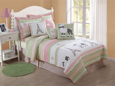 paris bedding full parisian poodles full or twin quilt with shams