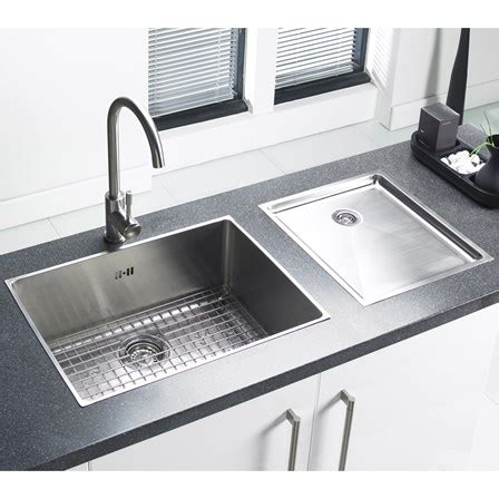 undermount kitchen sink with drainer astracast onyx 1 bowl flush inset brushed stainless steel