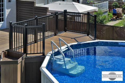patio sol patio avec piscine hors terre maison