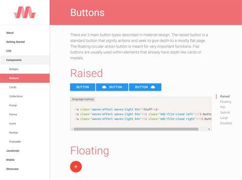 google design framework materialize framework responsive de google maxilovera