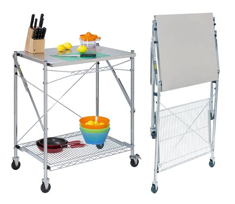 kitchen carts islands utility tables stainless steel folding utility table in kitchen island carts