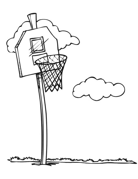 basketball net coloring pages basketball coloring picture basketball net 1