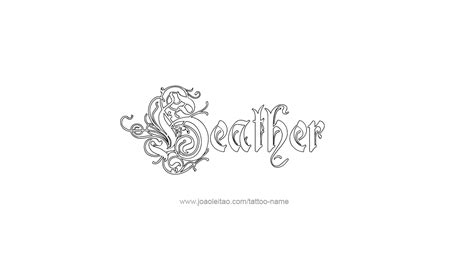 heather tattoo designs name designs