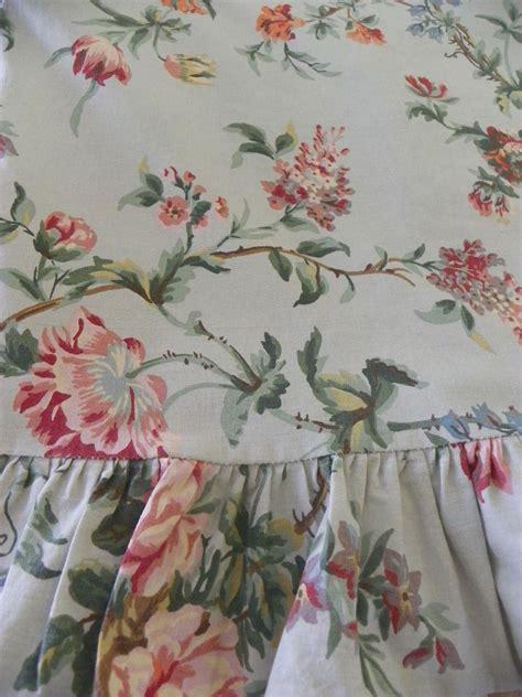 ralph lauren summer cottage twin ralph quot toulouse quot ruffled top sheet soft green floral 100 cotton ralphlauren