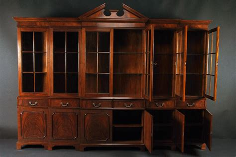 large black china cabinet large mahogany china cabinet large breakfront extra