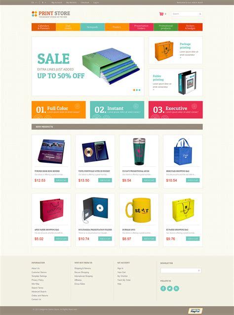 Print Store Magento E Commerce Theme Website Templates Printing Ecommerce Website Template