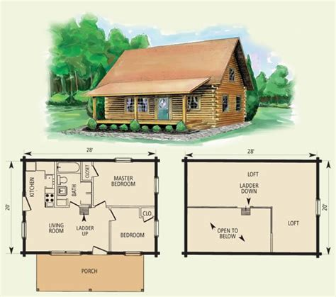 basic log cabin plans cumberland