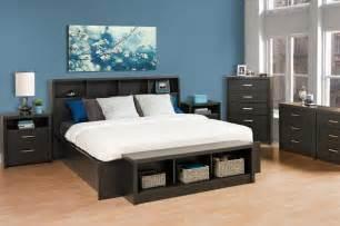 King Size Platform Bedroom Sets 7pc District Black Washed King Size Platform Bedroom Set