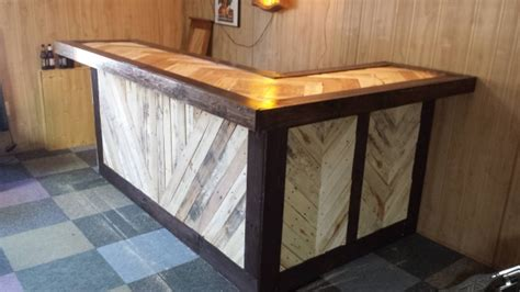 how to make a bar top out of wood recycled wood pallet bar ideas pallet ideas recycled