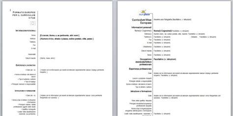 Formato Curriculum Vitae Non Europeo Cv Formato Europeo O Europass Come Migliorarlo Il Curriculum Vincente Il Curriculum Vincente