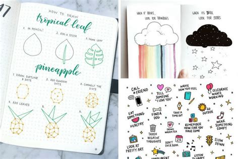 50 Stunningly Easy Bullet Journal Doodles You Can Totally