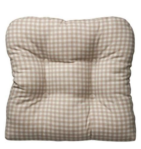 country chair pads 18 quot sq country gingham buffalo checks gripper dining chair