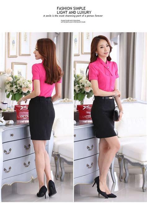 Blouse Import Murah A30717 Pink blouse wanita kerja lengan pendek pink model terbaru