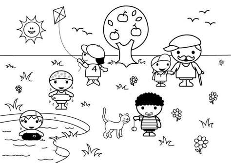 imagenes de invierno y verano para colorear dibujos del verano para colorear pintar e imprimir