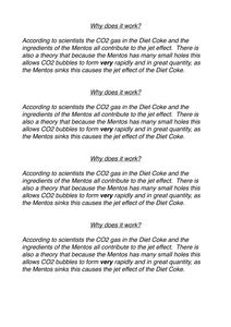 Mentos Experiment Worksheet by Mentoswhyitworks Pdf