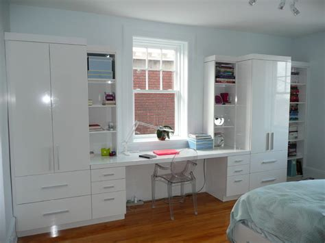 bedroom wall storage desk wall unit contemporary bedroom montreal by