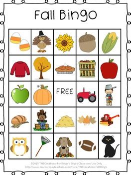 printable thanksgiving bingo cards free fall bingo calling cards bingo games and students