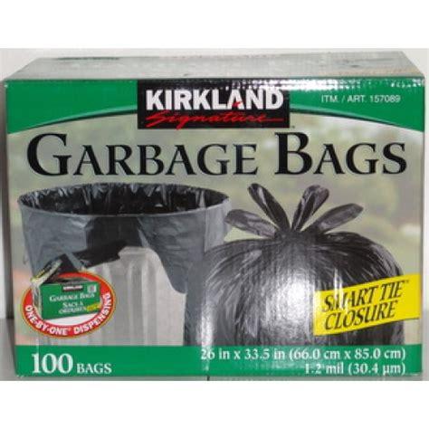 Kirkland Kitchen Bags by Kirkland Smart Tie Garbage Bags 26 Quot X 33 5 Quot Gargage Bags