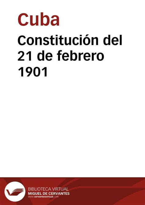 constituci 243 n de 1863 referendum 21 de febrero constituci 243 n 21 de febrero 1901 biblioteca