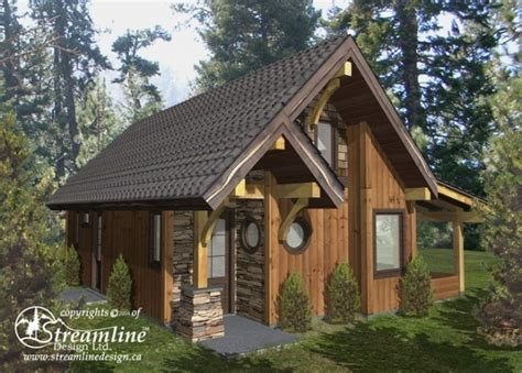 wood frame house plans chelwood cabin timber frame plans 695sqft streamline