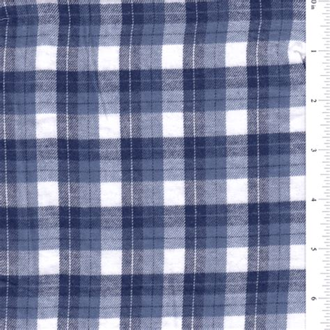 Flanel Tartan Blue White blue white plaid flannel bolt op1129 discount fabrics