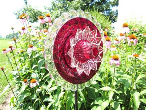 flower plates garden 20 upcycled garden glass flowers made of plates