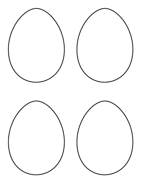 printable eggs templates printable medium egg pattern use the pattern for crafts